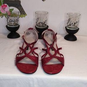 Dana Buchman, women's , black/ Red  sandals  Sz 9